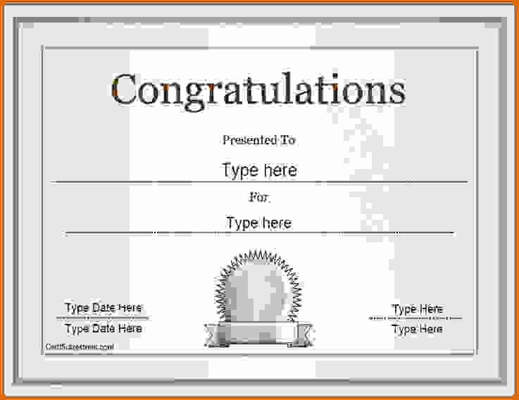 Congratulations You Did It Certificate Elegant Congratulations Award to Pin On Pinterest thepinsta