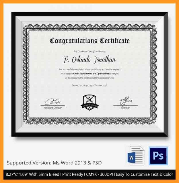 Congratulations You Did It Certificate Elegant Congratulations Certificate Template