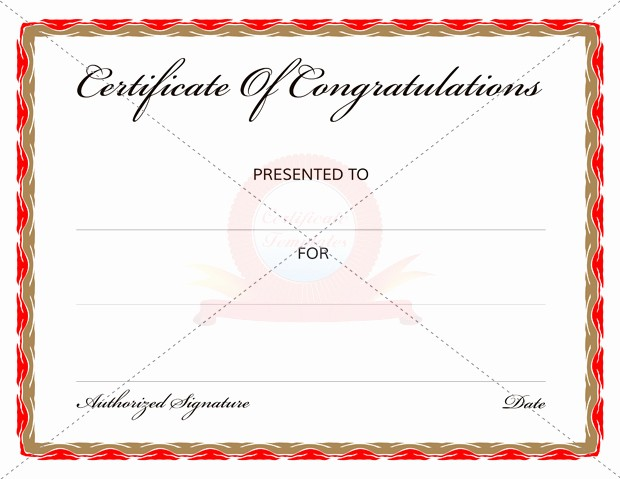 Congratulations You Did It Certificate Inspirational January Certificates for 2017