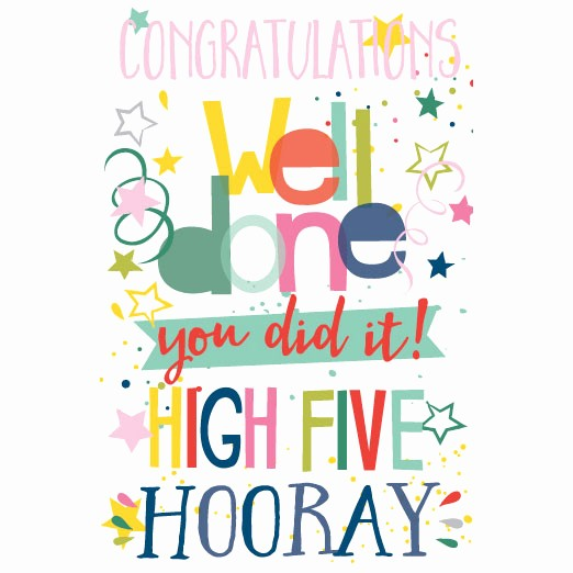 congratulations you did it greetings card