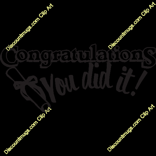 Congratulations You Did It Certificate Lovely Graduation Clipart You Did It Pencil and In Color
