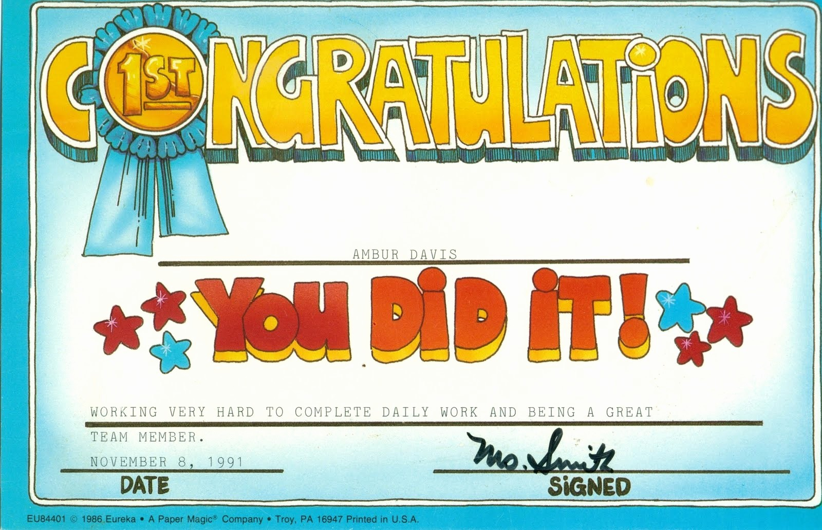 Congratulations You Did It Certificate Luxury Congratulations Quotes for Awards Quotesgram