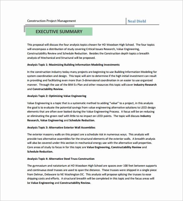 Construction Bid Proposal Template Excel Luxury Construction