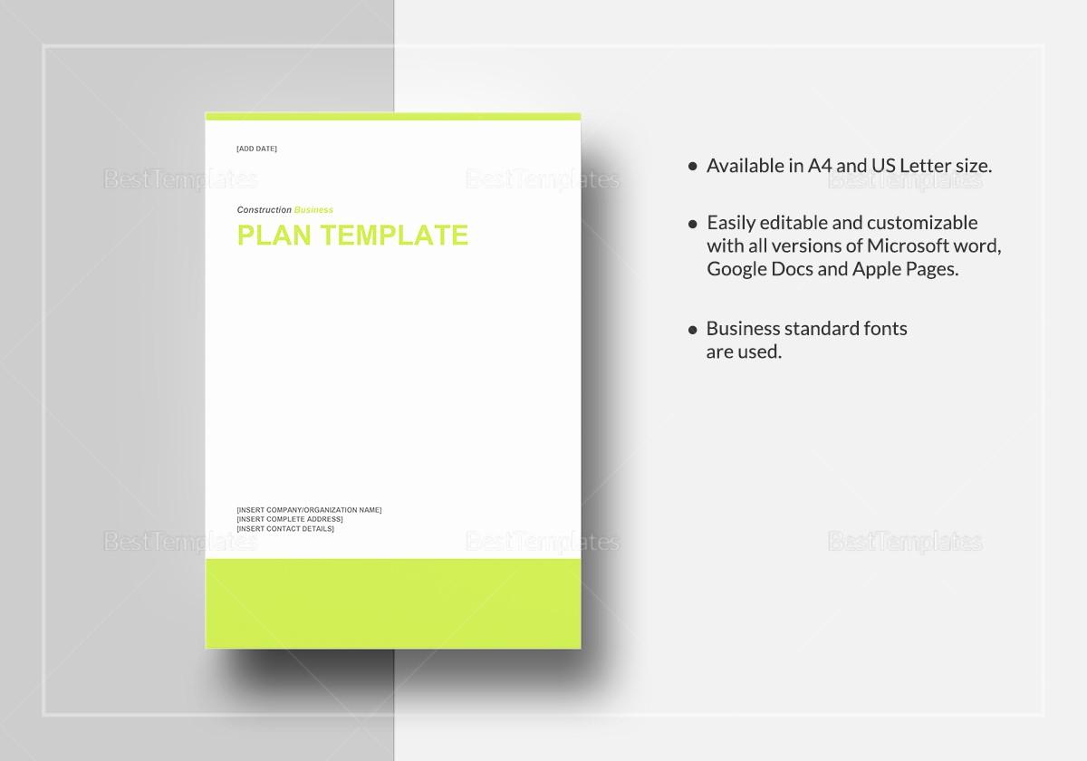 Construction Business Plan Template Word Awesome Construction Business Plan Template In Word Google Docs