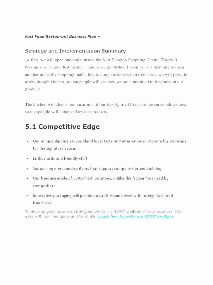 Construction Business Plan Template Word Elegant Business Plan for Franchise Restaurant Construction