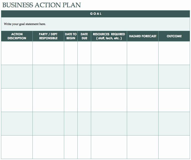 Construction Business Plan Template Word Elegant Free Action Plan Templates Smartsheet