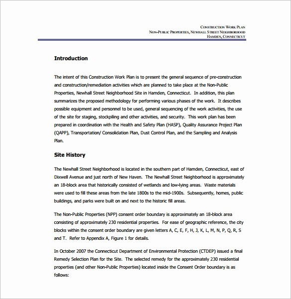 Construction Business Plan Template Word Lovely Work Plan Template 15 Free Word Pdf Documents Download
