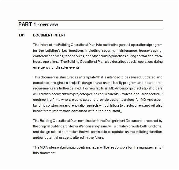 Construction Business Plan Template Word Unique 20 Operational Plan Templates Doc Pdf