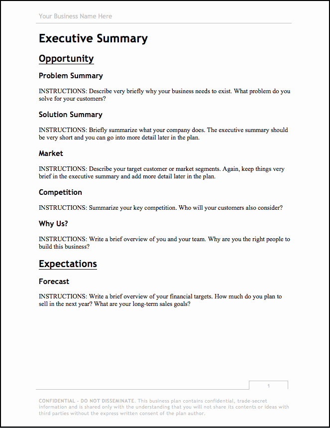 Construction Business Plan Template Word Unique Business Plan Template [updated for 2018] – Free Download
