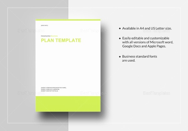 Construction Business Plan Template Word Unique Construction Business Plan Template 12 Free Word Excel