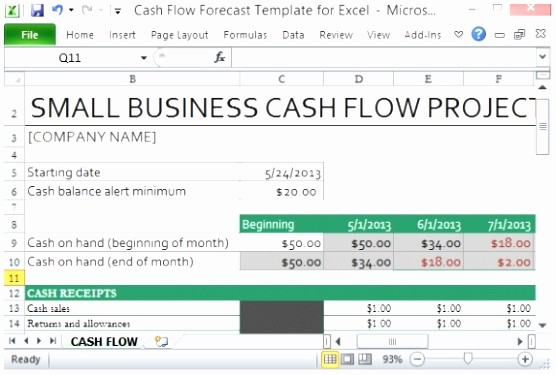 Construction Cash Flow Projection Template Elegant 6 Construction Cash Flow Projection Template Ttytt