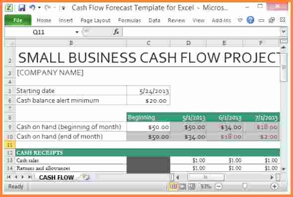 Construction Cash Flow Projection Template Fresh 8 Cash Flow Spreadsheet Template