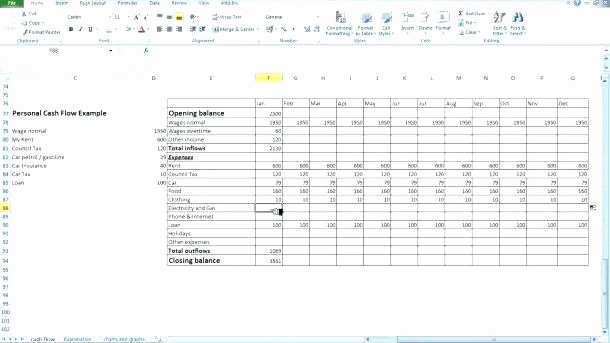 Construction Cash Flow Projection Template Lovely Project Cash Flow Excel Template Excel Template for Chart