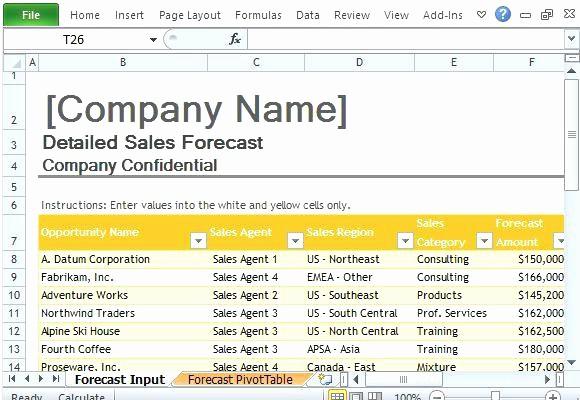 Construction Cash Flow Projection Template Luxury Project Projection Template Sales forecast for Excel