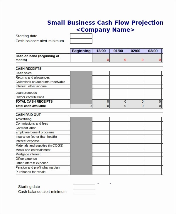 Construction Cash Flow Projection Template New Cash Flow Excel Template 11 Free Excels Download