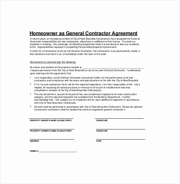 Construction Contract Template Microsoft Word Awesome Construction Contractor Contract Sample Templates