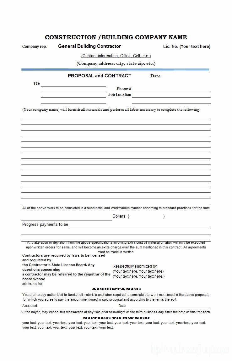 Construction Contract Template Microsoft Word Luxury Concrete Construction Contract Template Templates