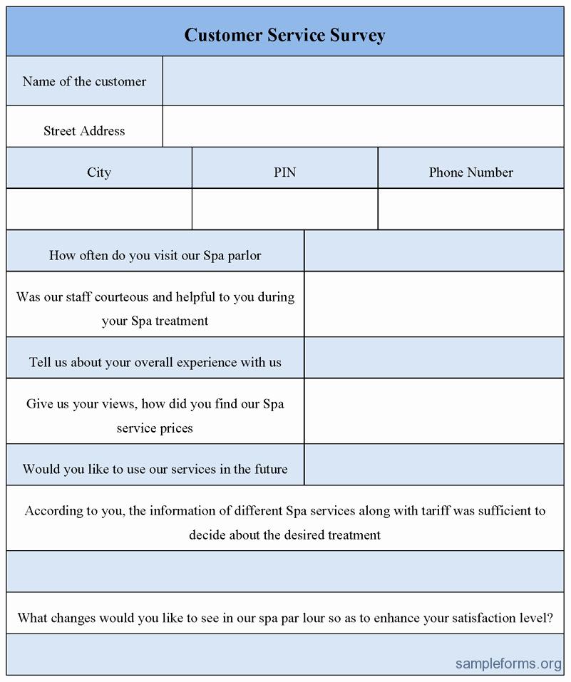 Construction Customer Satisfaction Survey Template Beautiful Customer Service Survey form Sample forms
