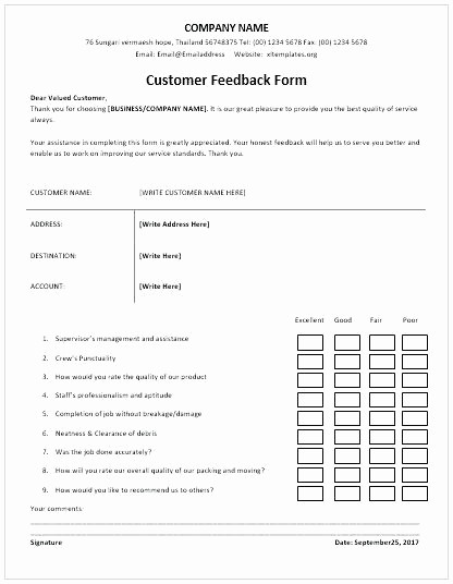 Construction Customer Satisfaction Survey Template Luxury Client Feedback Questionnaire Template Construction