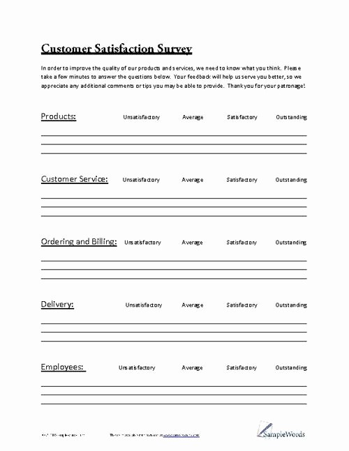 Construction Customer Satisfaction Survey Template New 188 Best Images About Business forms On Pinterest