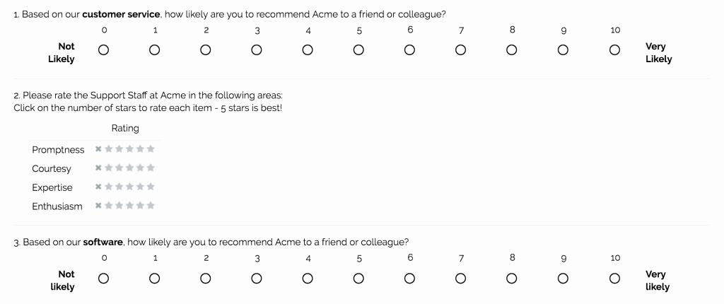 Construction Customer Satisfaction Survey Template Unique Sample Questions Customer Satisfaction Surveys