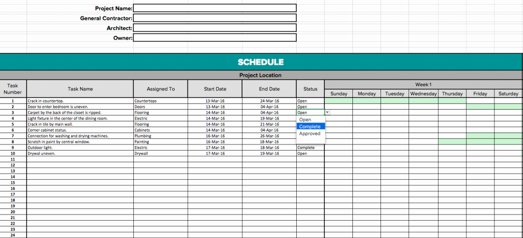 Construction Project Schedule Template Excel Fresh Construction Schedule Template