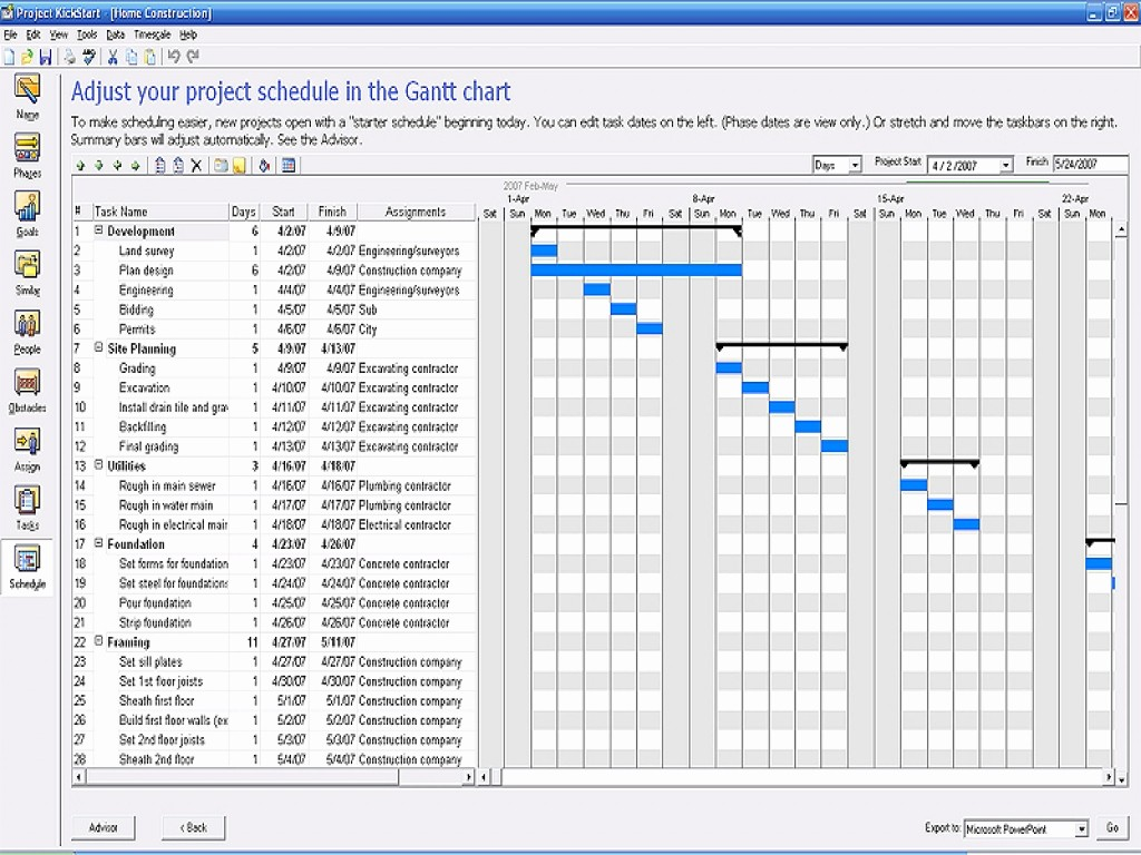 Construction Project Schedule Template Excel Fresh Construction Work Plan Construction Project Management
