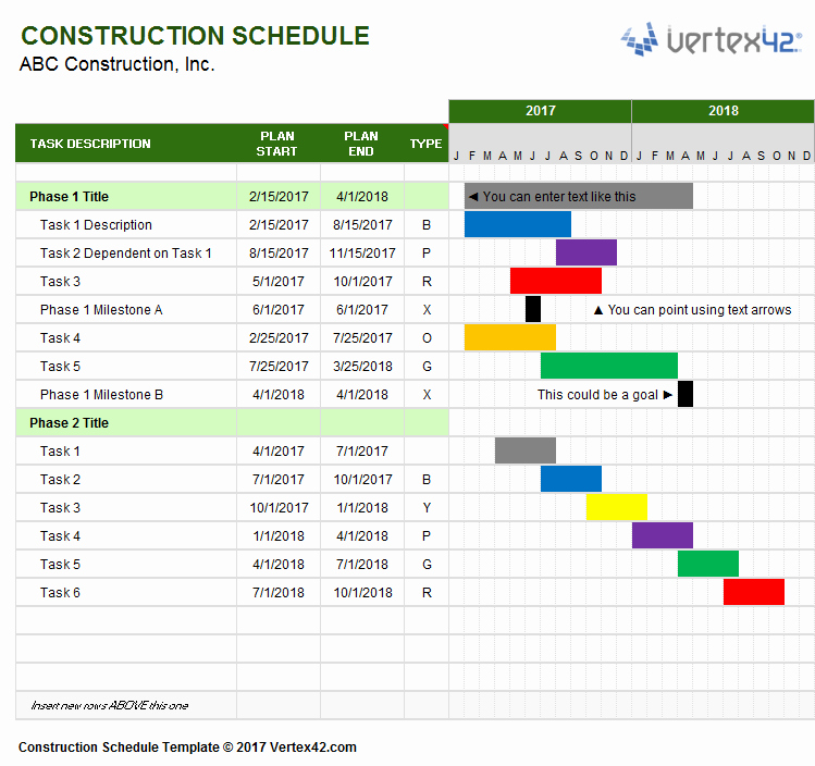 Construction Project Schedule Template Excel Lovely Download A Free Construction Schedule Template From