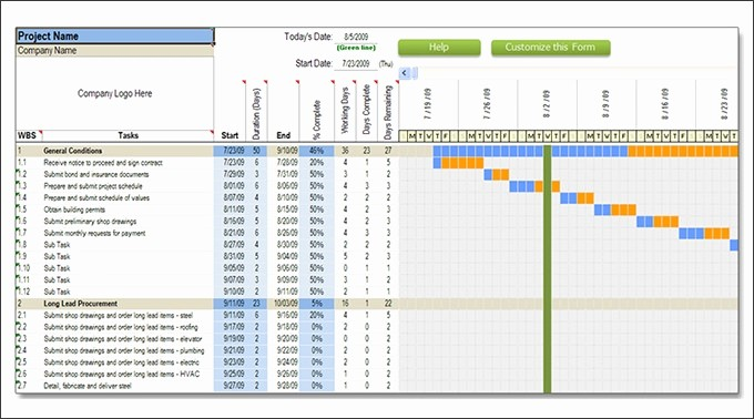 Construction Project Schedule Template Excel Unique Construction Schedule Template