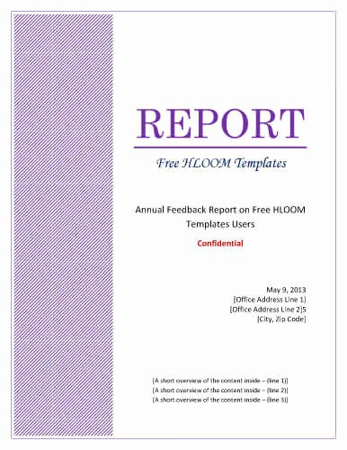 Consulting Report Template Microsoft Word Beautiful 7 Report Cover Page Templates [for Business Documents]