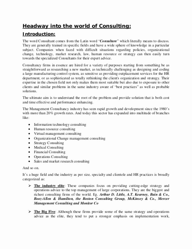 Consulting Report Template Microsoft Word Elegant Research Reports format