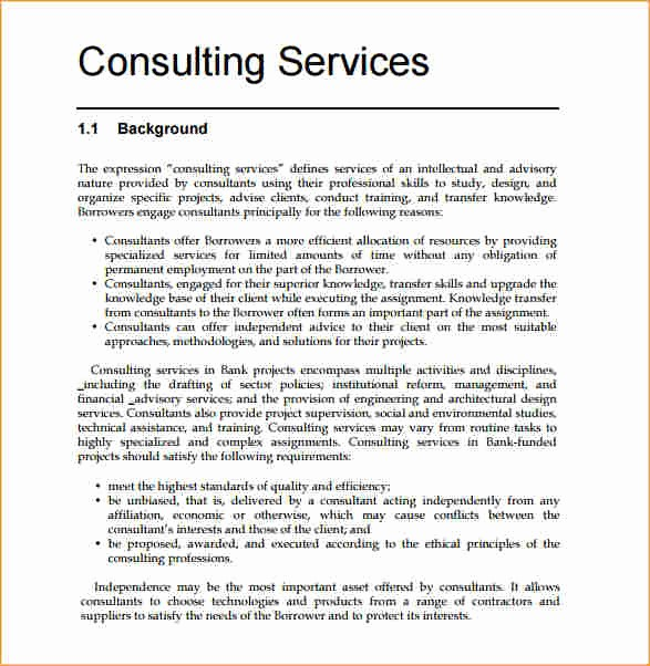 Consulting Report Template Microsoft Word Luxury Consulting Proposal Template Word Business Proposal