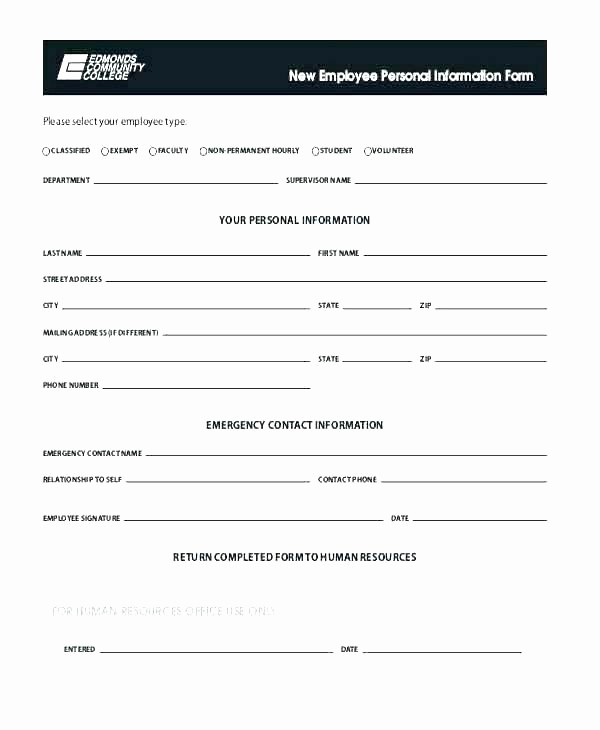Contact Information form Template Word Best Of 88 Emergency Contacts form Templates Template Employee