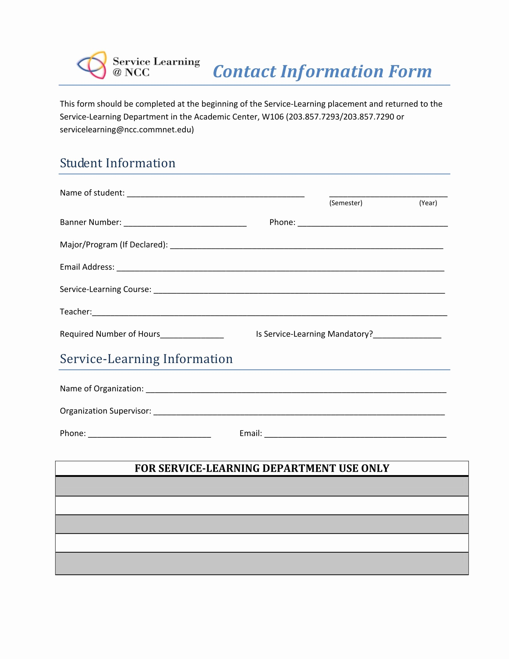Contact Information form Template Word Elegant Contact Information Template Word Portablegasgrillweber