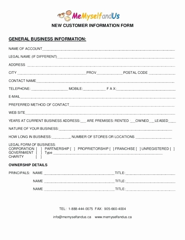 Contact Information form Template Word Luxury Groups Customer B39f003c666d Best form Template