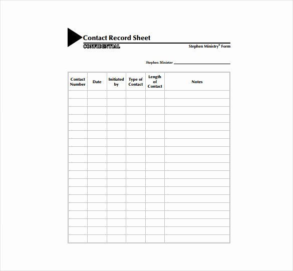 Contact Information form Template Word New Contact Sheet Template 16 Free Excel Documents Download