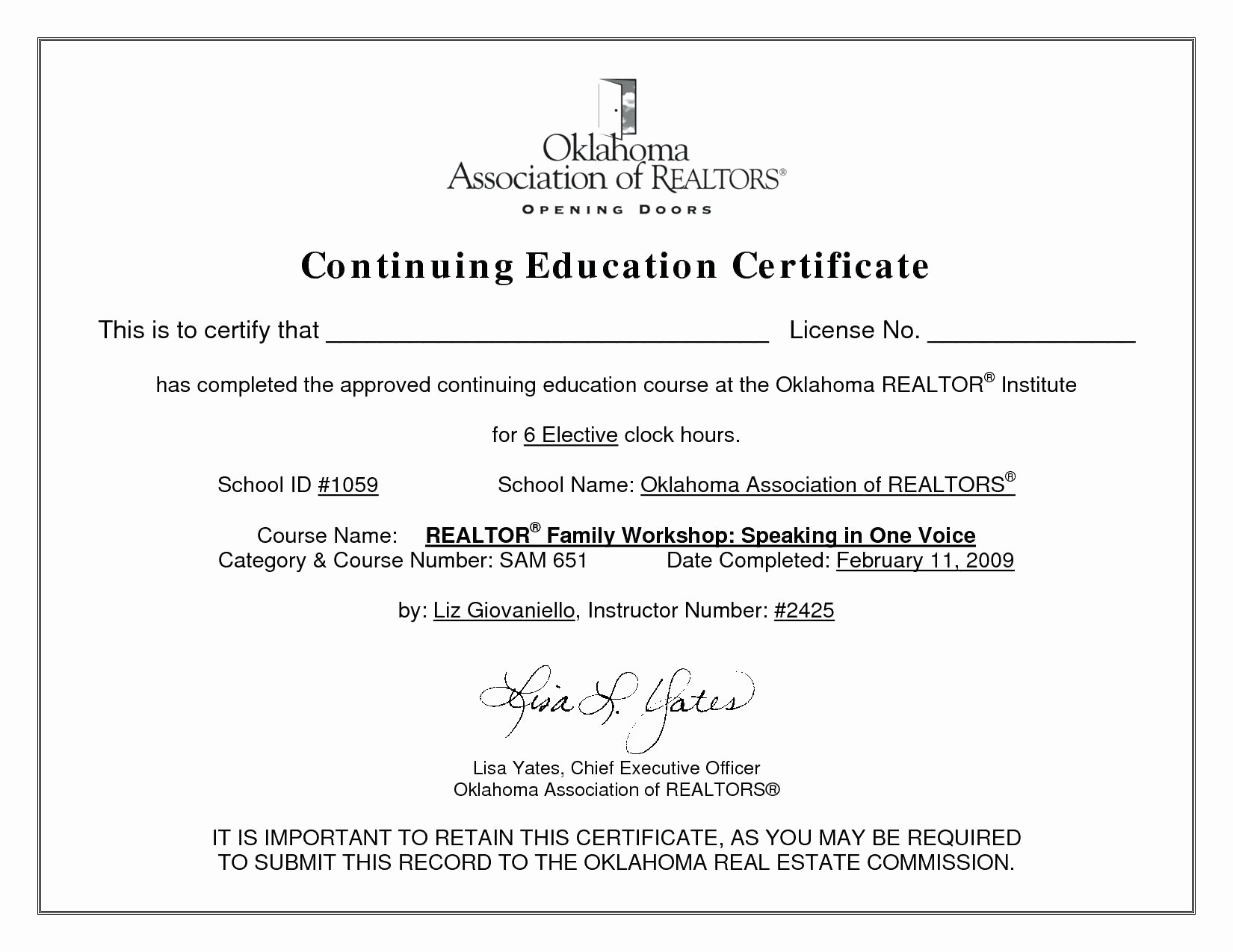 Continuing Education Certificate Template Free Awesome Ceu Certificate Template