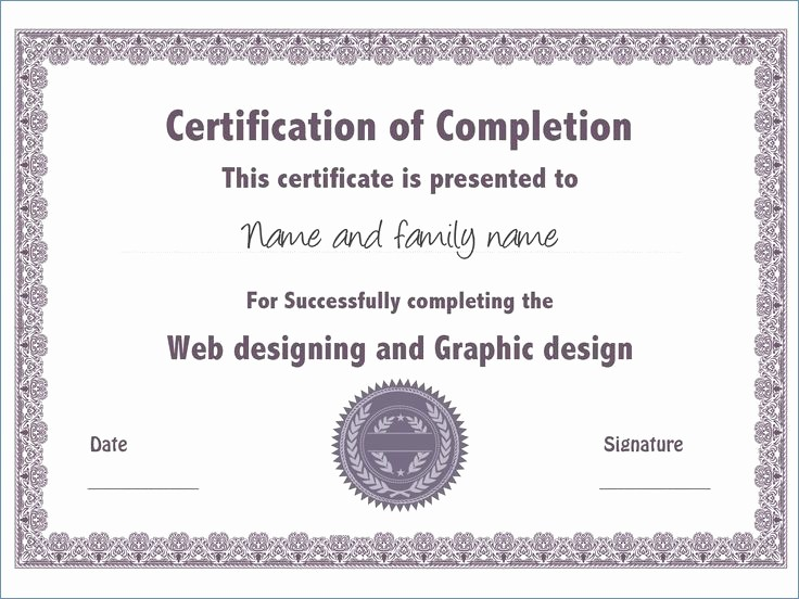 Continuing Education Certificate Template Free Beautiful Continuing Education Certificate Template