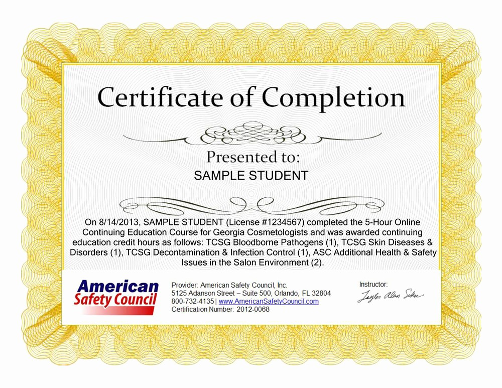 Continuing Education Certificate Template Free Lovely Continuing Education Certificate Template Fp Groupfo