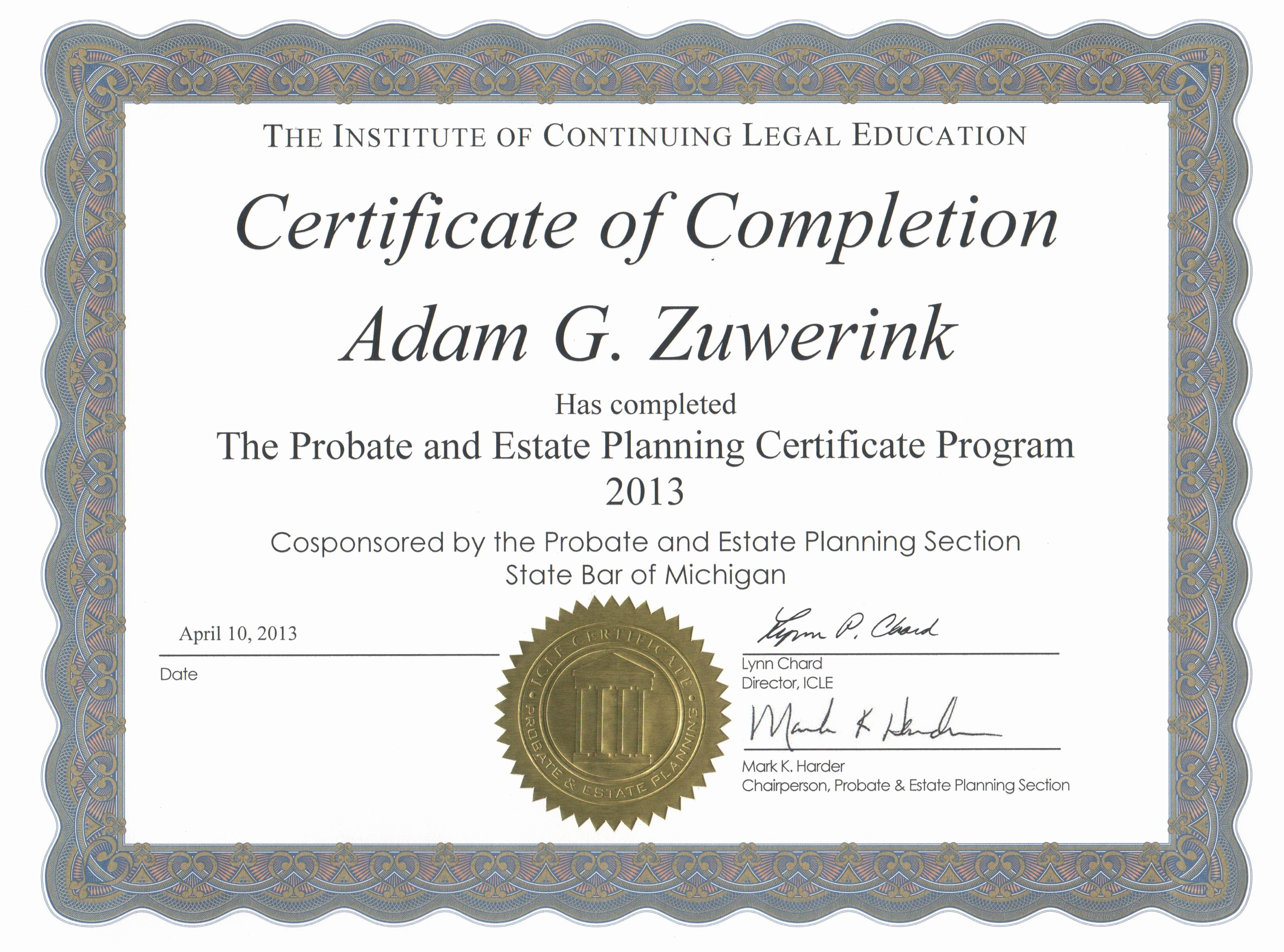 Continuing Education Certificate Template Free Lovely Sample Certificate Pletion