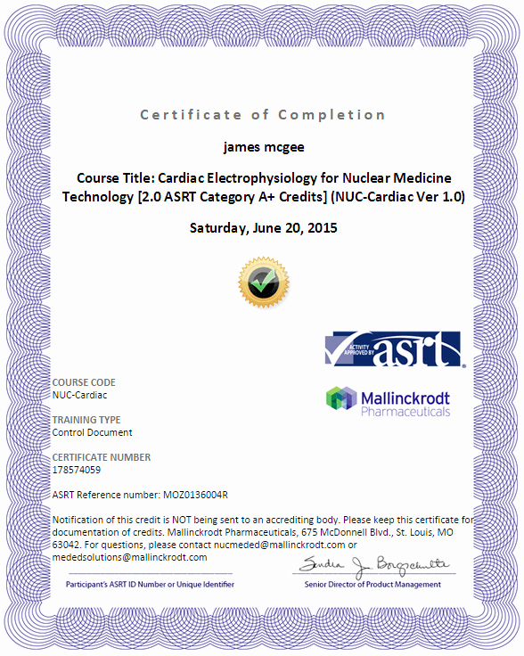 Continuing Education Certificate Template Free Luxury Nuclear Medicine Continuing Education Cnmts 36 5 Hrs Free