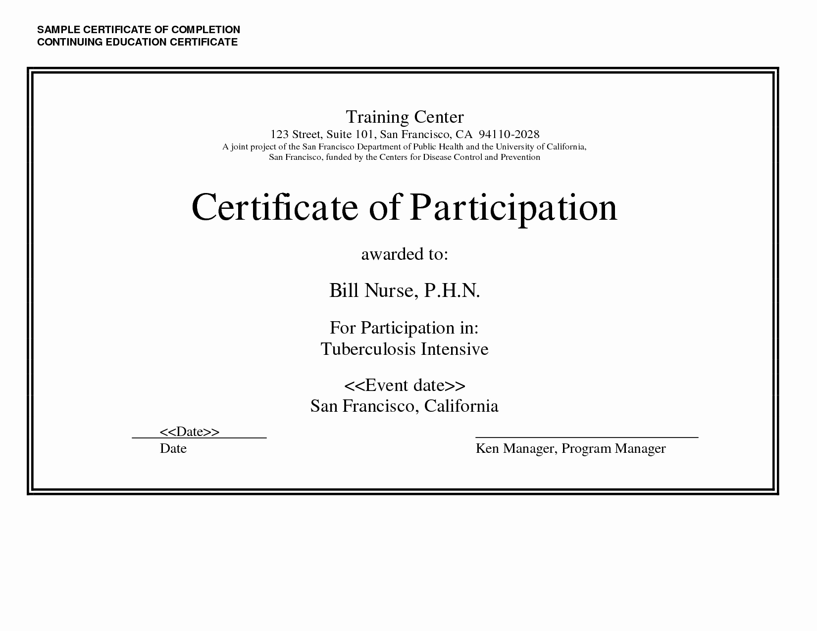 Continuing Education Certificate Template Free Luxury Sample Certificate Of Pletion Continuing Education