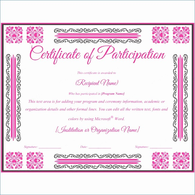 Continuing Education Certificate Template Free Unique Continuing Education Certificate Template