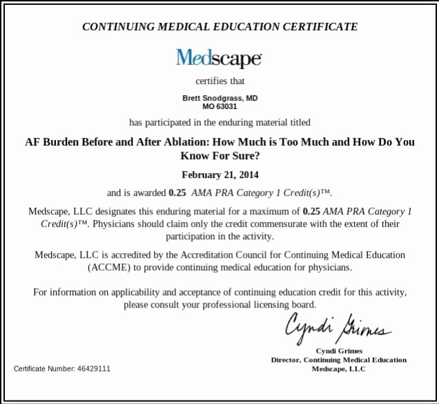 Continuing Education Certificate Template Free Unique Continuing Education Credit Certificate Template