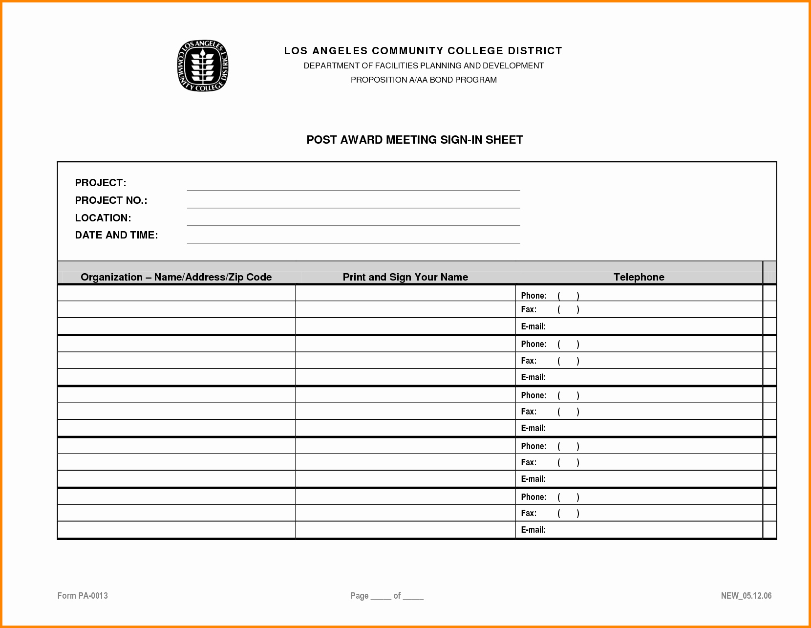 Contractor Sign In Sheet Template Fresh Construction Safety Meeting Sheets to Pin On