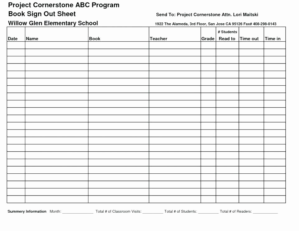 Contractor Sign In Sheet Template Inspirational Daily Sign In Sheet Contractor Template Excel