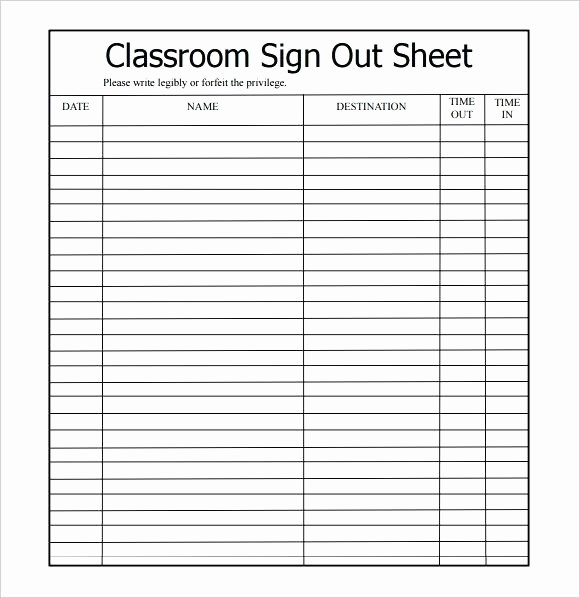 Contractor Sign In Sheet Template Unique Free Printable Visitor Sign In Sheet Template Out Excel