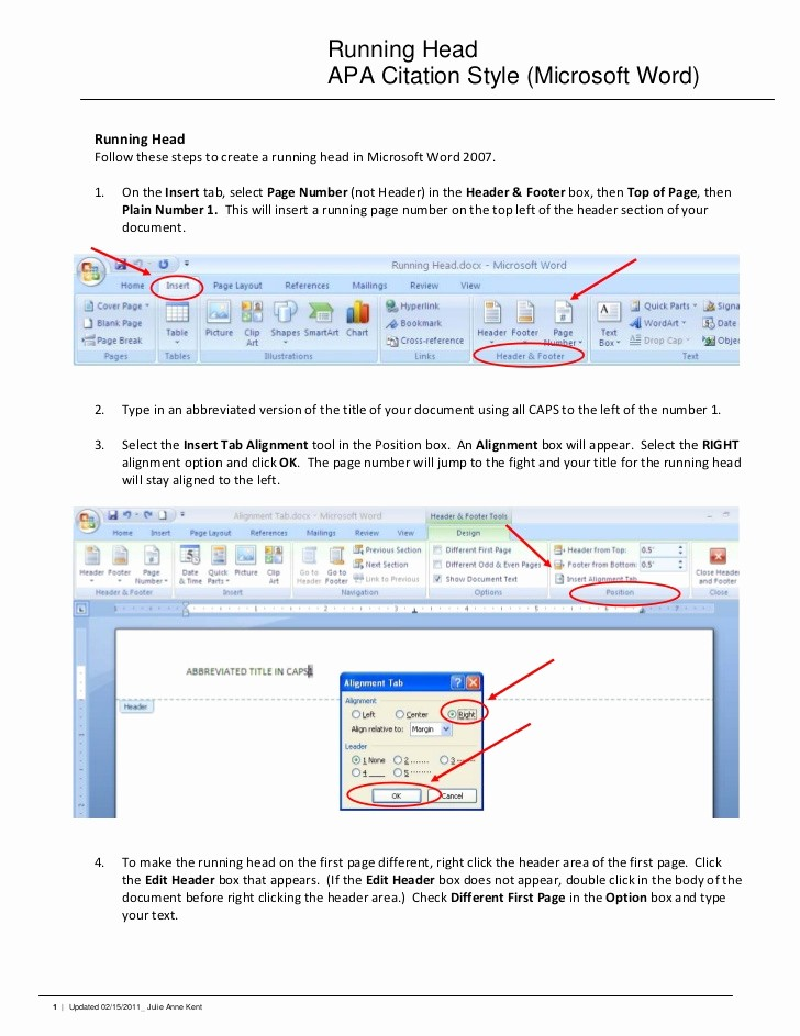 Convert Document to Apa format Best Of Running Head Apa Citation Style Microsoft Word