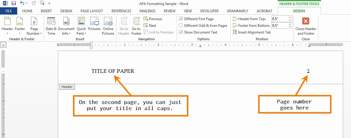 Convert Document to Apa format Elegant Apa formatting for Word 2013