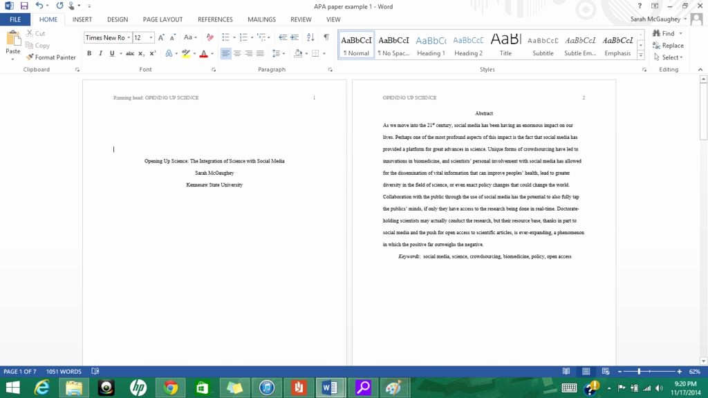 Convert Document to Apa format Elegant formatting Apa Style In Microsoft Word 2013 9 Steps